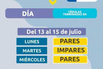 Pico y Cédula Armenia Desde el Lunes 13 Julio hasta el Miércoles 15 de Julio de 2020
